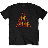 Def Leppard - Classic Triangle Logo Unisex T-Shirt - Black (Medium) - Cover
