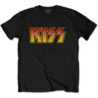 Kiss - Classic Logo Men's T-Shirt – Black (Large) - Cover