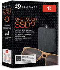 Seagate 1TB One Touch Mini Portable 2.5 inch Solid State Drive - Black - Cover