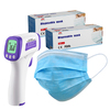 Simzo Non-Contact LED Handheld Infrared Thermometer (plus 2x 3-Ply Face Masks 50 Pack)