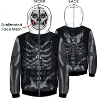 Fortnite- Skull Trooper Cosplay Multi-Colour Hoodie (11-12 Years)