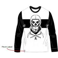 Fortnite - Skull Trooper - Teen Long Sleeve - Black/White - T-Shirt (9-10 Years)