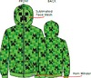 Minecraft - Mob Face - Hoodie - Green (7-8 Years)