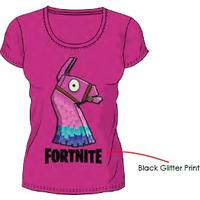 Fortnite - Glitter Llama - T-Shirt - Pink (15-16 Years)