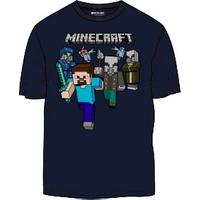 Minecraft - Woodland Battle - Teen T-Shirt - Blue (9-10 Years)
