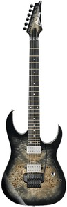 Ibanez RG1120PBZ-CKB Premium Series Electric Guitar (Charcoal Black Burst)