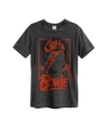 David Bowie - Aladdin Sane Amplified Vintage T-Shirt - Charcoal (Large)