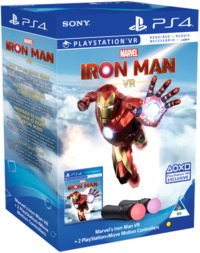 Marvel's Iron Man VR + 2 PlayStation Move Motion Controllers (PS4) - Cover