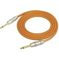 Kirlin 6m Woven Instrument Cable (Orange)