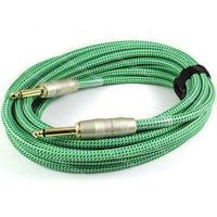 Kirlin 6m Woven Instrument Cable (Green)