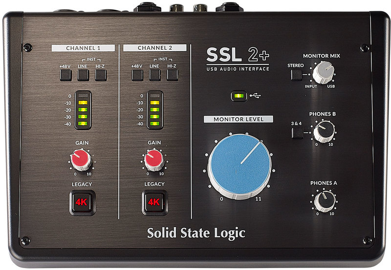 SSL 2+ 2-In/4-Out USB-C Audio Interface