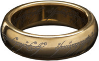 Lord of the Rings - Tungsten Ring the One Ring (Gold Plated) Weta (Size 6)