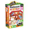 Headu Educational Puzzles - Montessori First Puzzle the Farm 5 Large Wooden Shapes (6 Pieces)