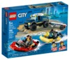 LEGO® City - Elite Police Boat Transport (166 Pieces)