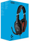 Logitech G - G332 Wired Headset - Black/Red (PC/Gaming)