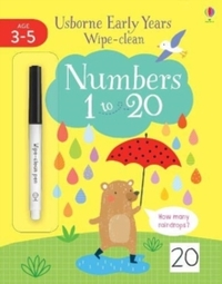 Wipe Clean Numbers 1-20 - Jessica Greenwell (Paperback) - Cover