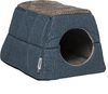 Rogz Cat Bed Two-In-One Igloo Oslo (Petrol & Grey)