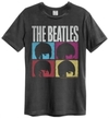 The Beatles - Hard Days Night Amplified Vintage T-Shirt - Charcoal (Large)