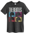 The Beatles - Hard Days Night Amplified Vintage T-Shirt - Charcoal (Small)