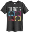 The Beatles - Hard Days Night Amplified Vintage T-Shirt - Charcoal (X-Large)