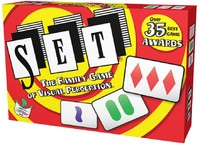 SET - The Family Game Of Visual Perception Game (Card Game) - Cover