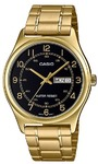 Casio MTP-V006G-1BUDF Analogue Wrist Watch (Gold Tone and Black)