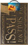 Lord of the Rings - You Shall Not Pass Rubber Door Mat