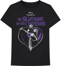 The Nightmare Before Christmas - Purple Heart Unisex T-Shirt - Black (X-Large) - Cover