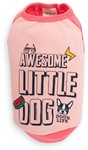 Dog's Life - Awesome Little Dog Tank Top - Pink (Large)