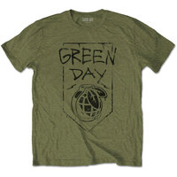 Green Day - Organic Grenade Unisex T-Shirt - Green (X-Large) - Cover
