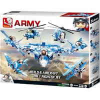 Sluban Army - Build 6 Aircraft or 1 Fighter Jet (728 Pieces)