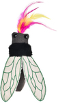 Cat's Life - Beetle Cat Toy Black With Feather (18cm)