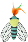 Cat's Life - Beetle Cat Toy Green With Feather (18cm)