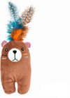 Cat's Life - Indie Bear Cat Toy With Feather (21cm)