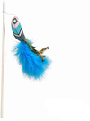 Cat's Life - Cat Dangler With Blue Feather (28cm)