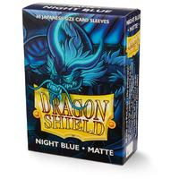 Dragon Shield - Japanese Size Sleeves - Matte Night Blue 'Delphion' (60 Sleeves)
