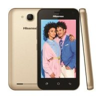 Hisense U605 DS 4.0 inch 3D Dual Sim Gold 1GB RAM + 8GB ROM (Micro SD Support); 1500mah; 5mp Rear + VGA Front Camera; Android 9 - Cover