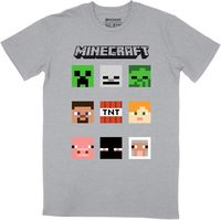 Minecraft - Niner - T-Shirt - Grey/Melange (7-8 Years) - Cover