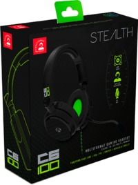 Stealth C6-100 Headset & Stand Bundle - Carbon Edition - Black/Green (PC/Gaming)