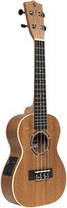 Stagg UC30E Mahogany Acoustic-Electric Concert Ukulele (+ Bag) - Cover