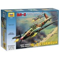 Zvezda - 1/72 - Soviet Armored Attack Aircraft IL-2 Stormovik (Plastic Model Kit)