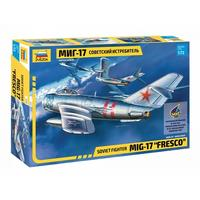 "Zvezda - 1/72 - Soviet Fighter MIG-17  ""Fresco"" (Plastic Model Kit)"