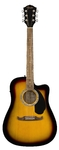 Fender FA-125CE Dreadnought Walnut Acoustic Guitar (Sunburst)