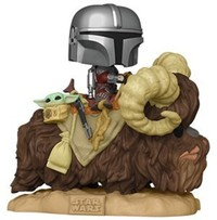 Funko Pop! Deluxe - The Mandalorian on Bantha with The Child in Bag - Deluxe 2 - Cover