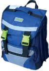 Eco Earth - 3 Division School Back Pack - Blue