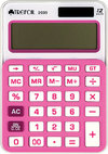 Trefoil - 12 Digit Calculator 8 x 12cm - Small (Pink/White)