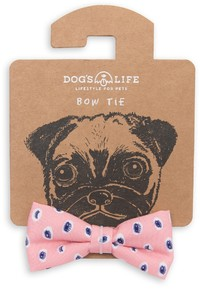 Dog's Life - Bow Tie Eyes Doodle - Pink (Small)