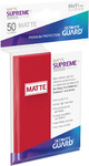 Ultimate Guard - Supreme Sleeves Standard Size - Matte Red (50 Sleeves)