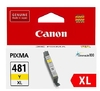 Canon Ink Cartridge CLI-481 High Yield Yellow