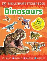 Ultimate Sticker Book: Dinosaurs (Paperback) - Cover